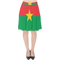 Flag Of Burkina Faso Velvet High Waist Skirt by abbeyz71