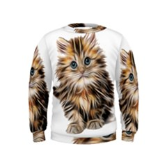 Kitten Mammal Animal Young Cat Kids  Sweatshirt