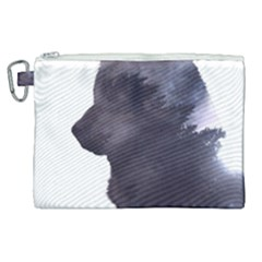 Grey Wolf  Canvas Cosmetic Bag (xl) by sherylchapmanphotography
