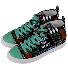 Book Quote Collage Women s Mid Top Canvas Sneakers by Samandel