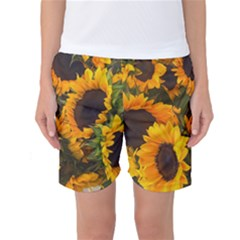 Sunflowers Women s Basketball Shorts by bloomingvinedesign