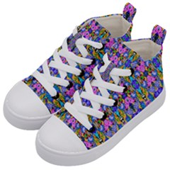 Artwork By Patrick Colorful 48 Kid s Mid Top Canvas Sneakers by ArtworkByPatrick