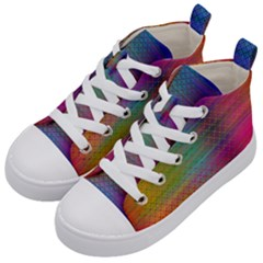 Colorful Sheet Kid s Mid Top Canvas Sneakers by LoolyElzayat
