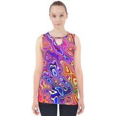 Colorful Texture                                      Cut Out Tank Top by LalyLauraFLM