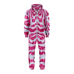 Skin2 White Marble & Pink Marble Hooded Jumpsuit (kids) by trendistuff