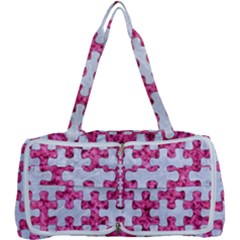 Puzzle1 White Marble & Pink Marble Multi Function Bag	 by trendistuff