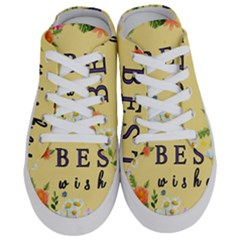 Best Wishes Yellow Flower Greeting Half Slippers by Sapixe