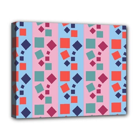 Background Desktop Squares Deluxe Canvas 20  X 16   by Sapixe