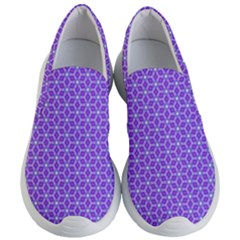 Lavender Tiles Women s Lightweight Slip Ons by jumpercat
