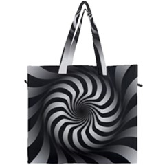 Art Optical Black White Hypnotic Canvas Travel Bag by Sapixe