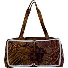 Copper Caramel Swirls Abstract Art Multi Function Bag	 by Sapixe