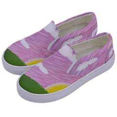 Pine Trees Trees Sunrise Sunset Kids  Canvas Slip Ons by Sapixe