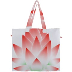 Lotus Flower Blossom Abstract Canvas Travel Bag by Sapixe