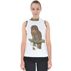 Bird Owl Animal Vintage Isolated Shell Top by Sapixe