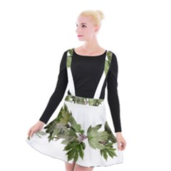 Leaves Plant Branch Nature Foliage Suspender Skater Skirt by Sapixe