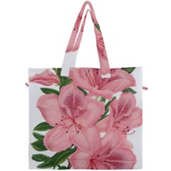 Flower Plant Blossom Bloom Vintage Canvas Travel Bag by Sapixe