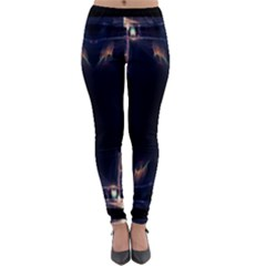 Cosmos Kaleidoscope Art Pattern Lightweight Velour Leggings by Sapixe