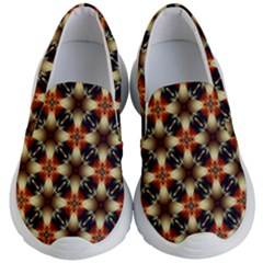 Kaleidoscope Image Background Kid s Lightweight Slip Ons by Sapixe