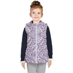 Colorful Intricate Tribal Pattern Kid s Hooded Puffer Vest by dflcprints
