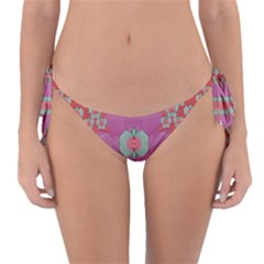 Fantasy Flowers In Everything That Is Around Us In A Free Environment Reversible Bikini Bottom