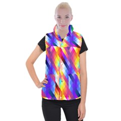 Abstract Background Colorful Pattern Women s Button Up Vest by Nexatart