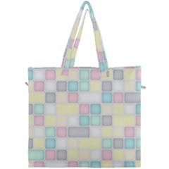Background Abstract Pastels Square Canvas Travel Bag by Nexatart