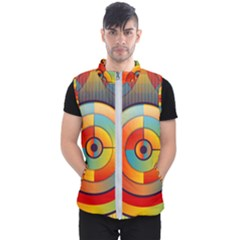 Background Colorful Abstract Men s Puffer Vest by Nexatart