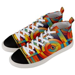 Background Colorful Abstract Men s Mid Top Canvas Sneakers by Nexatart