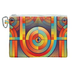 Background Colorful Abstract Canvas Cosmetic Bag (xl) by Nexatart