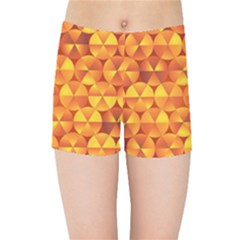 Background Triangle Circle Abstract Kids Sports Shorts by Nexatart