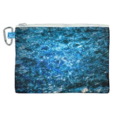 Water Color Blue Canvas Cosmetic Bag (xl) by FunnyCow