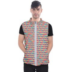 Background Abstract Colorful Men s Puffer Vest by Nexatart