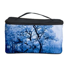 Nature Inspiration Trees Blue Cosmetic Storage Case by Nexatart