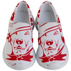 Dog Santa Hat Winter Christmas Kid s Lightweight Slip Ons by Sapixe