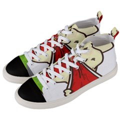 Doggy Dog Puppy Animal Pet Figure Men s Mid Top Canvas Sneakers by Sapixe