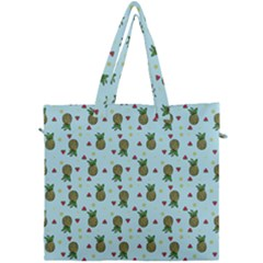 Pineapple Watermelon Fruit Lime Canvas Travel Bag by Nexatart
