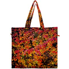 Orange, Yellow Cotoneaster Leaves In Autumn Canvas Travel Bag by FunnyCow
