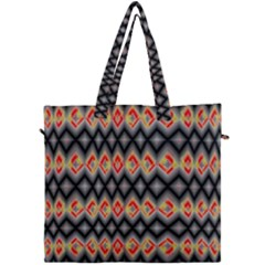 Red And Black Zig Zags  Canvas Travel Bag by flipstylezdes