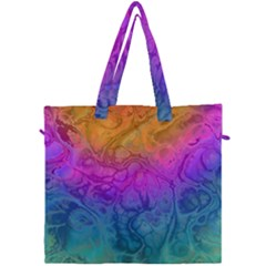 Fractal Batik Art Hippie Rainboe Colors 1 Canvas Travel Bag by EDDArt