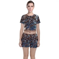 Melted Metal                                  Crop Top And Shorts Co Ord Set by LalyLauraFLM