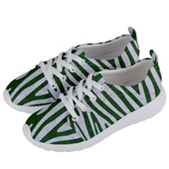 Skin4 White Marble & Green Leather (r) Women s Lightweight Sports Shoes by trendistuff