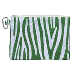 Skin4 White Marble & Green Leather (r) Canvas Cosmetic Bag (xl) by trendistuff