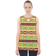 Ovals Rhombus And Squares                                          Cut Out Tank Top by LalyLauraFLM