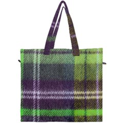 Neon Green Plaid Flannel Canvas Travel Bag by snowwhitegirl