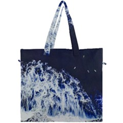 Blue Waves Sea Canvas Travel Bag by snowwhitegirl