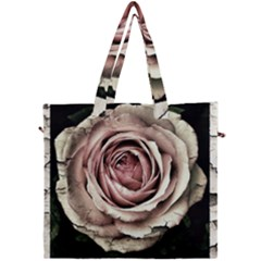 Vintage Rose Canvas Travel Bag by vintage2030