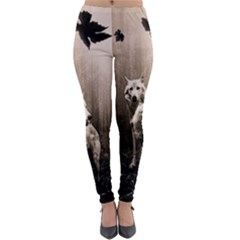 Wolfs Lightweight Velour Leggings by Valentinaart