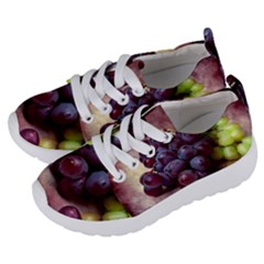 Red And Green Grapes Kids  Lightweight Sports Shoes by FunnyCow
