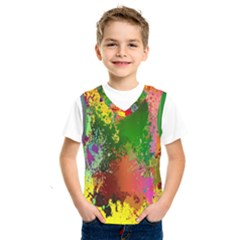 Embroidery Dab Color Spray Kids  Sportswear by Sapixe