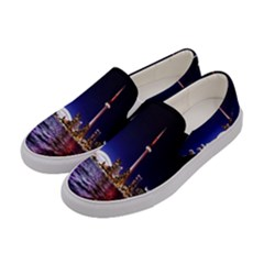 Toronto City Cn Tower Skydome Women s Canvas Slip Ons by Samandel